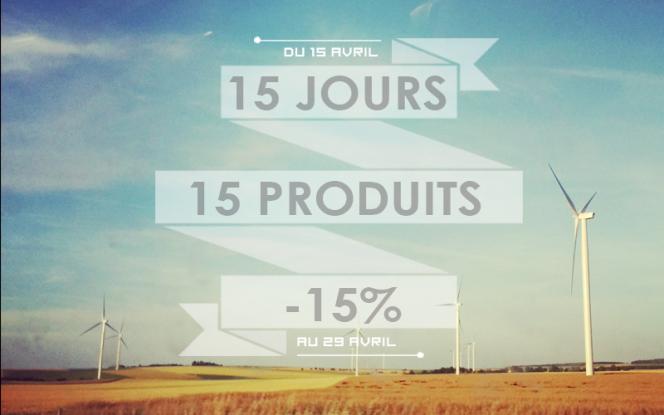 15 jours 15 produits -15%