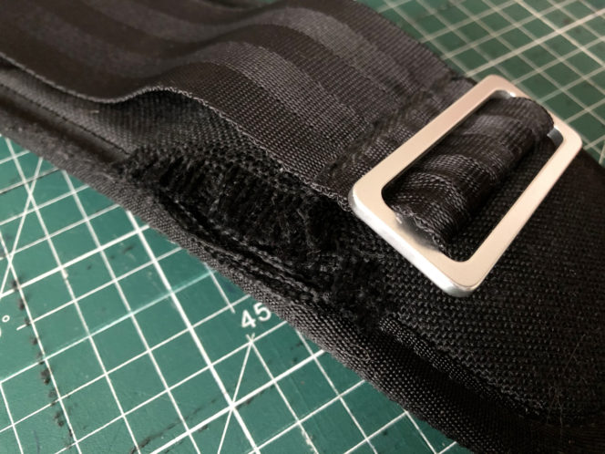 Fraying shoulder strap